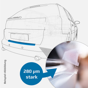 Ladekantenschutzfolie - transparent - Mazda 3 Stufenheck (Sedan) ab 2009